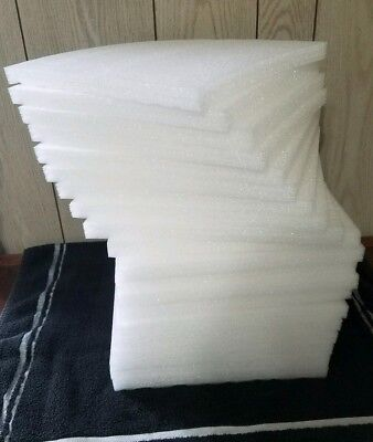 """20 Polyethylene Packing Shipping Foam Sheets 12""""x10 1/2""""×3/4"""" Good for crafts"""