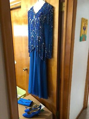 Mother of the Bride Sequined Gown Size 14 from Twilight Connection+Shoes & Purse
