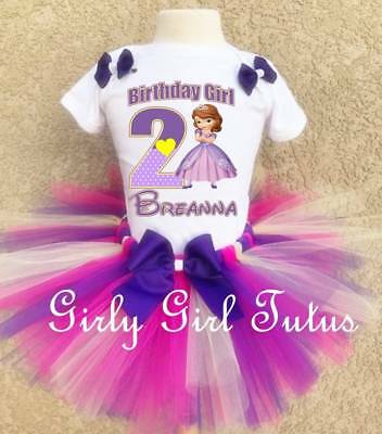 1f05a7ae7 Sofia The First Princess Birthday Tutu Outfit Party Set Dress Gift Favor