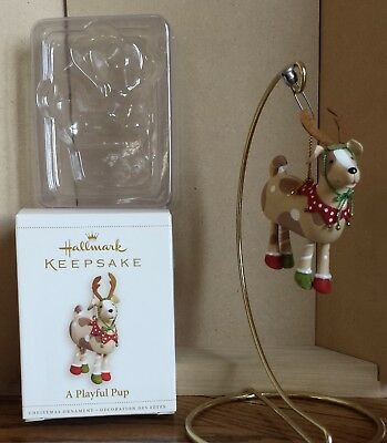 "Hallmark ""A Playful Pup"" Ornament 2006 NIB"
