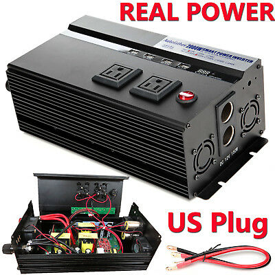 2000W High Power Car Inverter Power Converter 4000W(Peak) DC 12V to AC 110V US