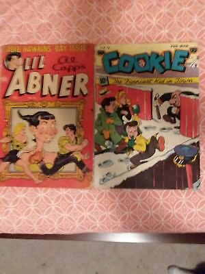 lil abner comic#86 and cookie #11 2 Golden Age comics Unrestored and complete!@@