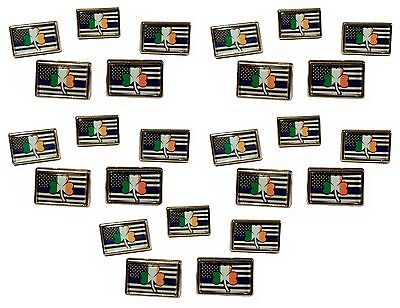 Irish Police Pin Thin Blue Line Police Support Lapel Pin Hat Pin Tie Tac 25 Pack