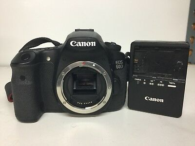 Canon EOS 60D 18.0MP Digital SLR Camera - Black (Body Only) includes one battery