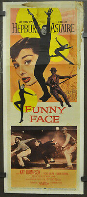 Funny Face 1957 Original 14X36 Linen Backed Movie Poster Audrey Hepburn