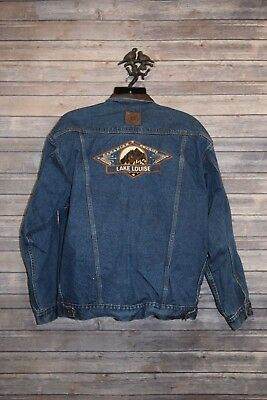 Men's Vintage Marlboro Country Store Jean Jacket  Denim Dark Blue Trucker Sz XL