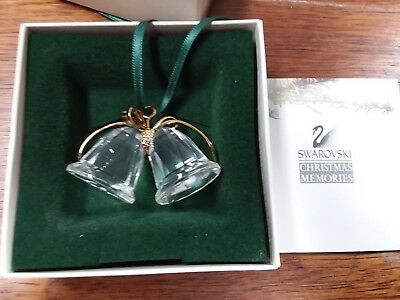 Swarovski Christmas Memories Crystal Bells Ornament w/Box 9443000003
