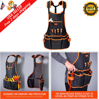 Electrician Tool Belt Bag Pouch Mechanic Vest Carpenter Apron with 16 Pocket New
