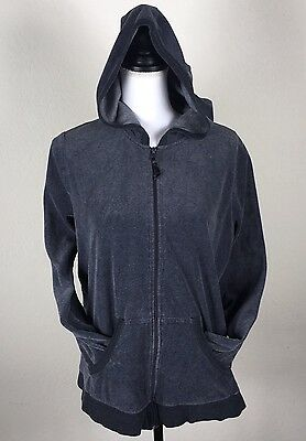 Motherhood Sport Women's Maternity Size L Large Zip Up Hoodie Velour Gray.  C