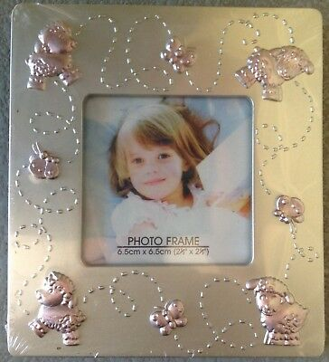 Photo Frame for Baby Girl Silver and Pink