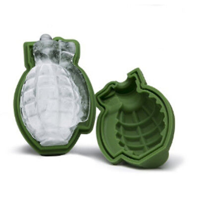 Grenade Shape 3D Ice Cube Mold Maker Bar Party Silicone Trays Mold Tool Gift HOT