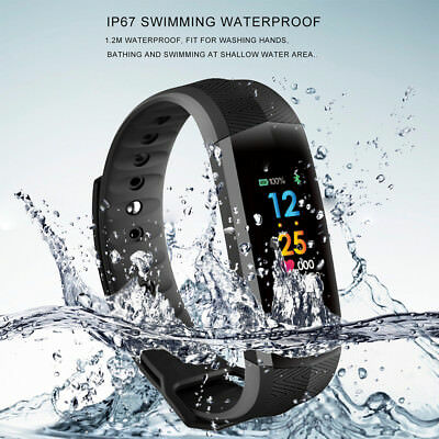 2018 IP67 Waterproof Smart Band Wristband Bracelet Heart Rate Monitor US lot AY1