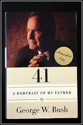 AUTOGRAPHED SIGNED 41 Portrait of My Father George Bush 1st COA Black Ink FreeSH