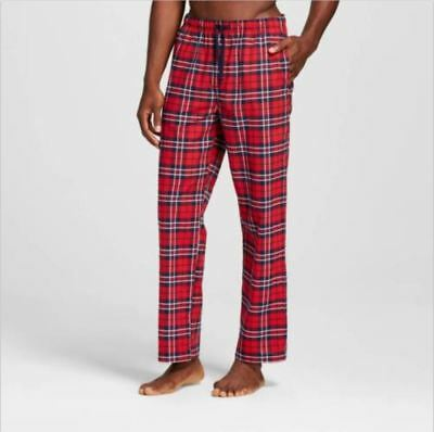 Clearance Special! Men's Poplin Sleep Pant Light Red Plaid Size XXL - Merona