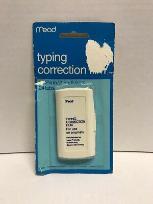 "Mead Typing Typewriter Correction Film - 24 1"" x 2 3/4"" Tabs (2.5 cm x 6.9 cm)"