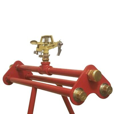 Rooftop Sprinkler with 3/4 Hose Swivel Brass Adapter Fittings & Impact Sprinkler