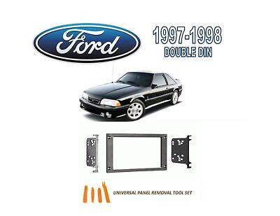 1987-1993 ford mustang double din car stereo install dash kit, tool set