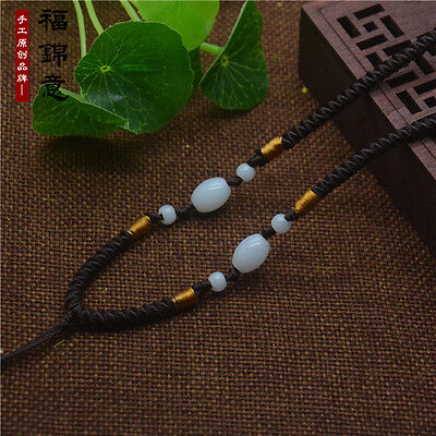 5Pcs Natural JADE beads Brown Circle string cord rope for pendant Necklace A202