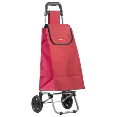 Typhoon Red Grocery Shopping Cart/Trolley Portable Foldable Bag/Basket w/ Wheels