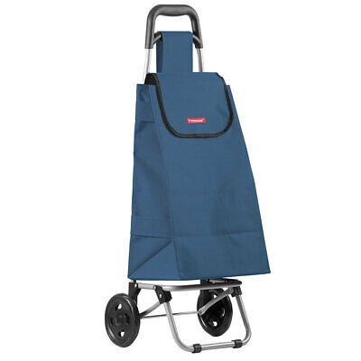 Typhoon Navy Grocery Shopping Cart/Trolley Portable Foldable Bag/Basket w/Wheels