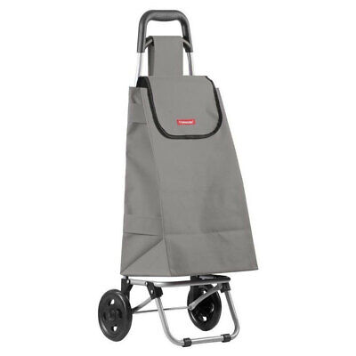 Typhoon Grey Grocery Shopping Cart/Trolley Portable Foldable Bag/Basket w/Wheels