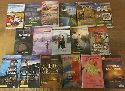 Lot of 50 Love Inspired Christian Suspense Romance Popular PB Books MIX UNSORTED