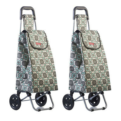2PK Typhoon Grand Floral Grocery Shopping Cart/Trolley Portable Foldable Bag