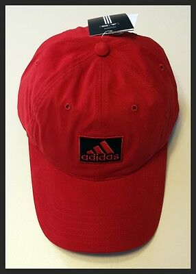 Adidas Adjustable Golf Cap - Red - Brand New - New With Tags