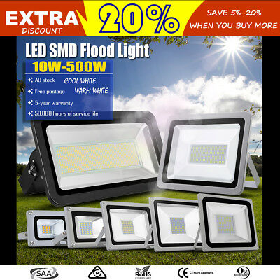 10W 20W 30W 50W 100W 150W 200W 300W 500W LED Flood Light Outdoor Lamp Patio 240V
