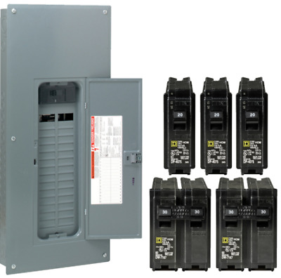Square-D 200-Amp 30-Space 60-Circuit Indoor Main Breaker Box Panel Load Center