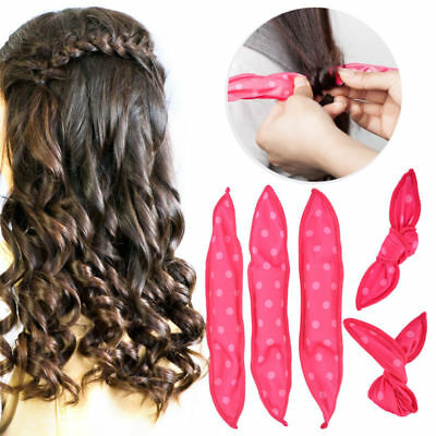 Magic Flexible Foam Sponge Hair Curlers No Heat Pillow Soft Rollers Spiral Curls