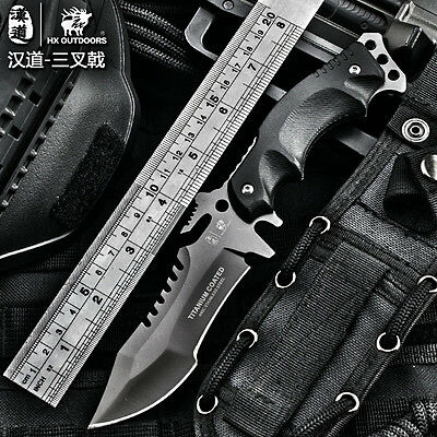 HX OUTDOORS Army Survival Knife Outdoor Tools High Hardness Straight Knives