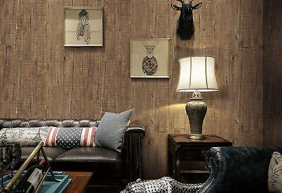 Vintage Brown Wood Wallpaper,Distressed Wooden Wallpaper Murals for Art B... New