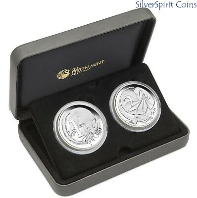 2016 DECIMAL CURRENCY 50th ANNIVERSARY Silver Proof 2 Coin Set
