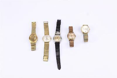 Lot of 5 x VINTAGE HAND WIND & AUTOMATIC WATCHES WORKING