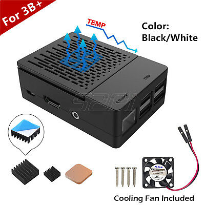 ABS Case Enclosure Cover Kit With Heatsinks and Cooling fan For Raspberry Pi 3