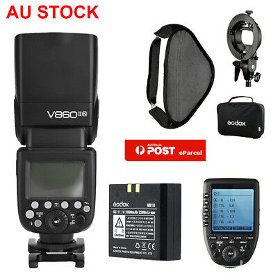 AU Godox V860II-N 2.4G Flash Speedlite + Xpro-N Trigger for Nikon+80*80 Softbox