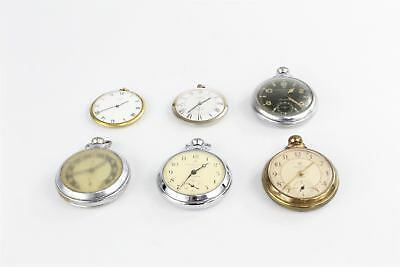 Lot of Vintage Base Metal Pocket Watches Hand-wind WORKING 332g