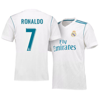 Adult Real Madrid Home Shirt 2017-18 with Ronaldo 7 V12