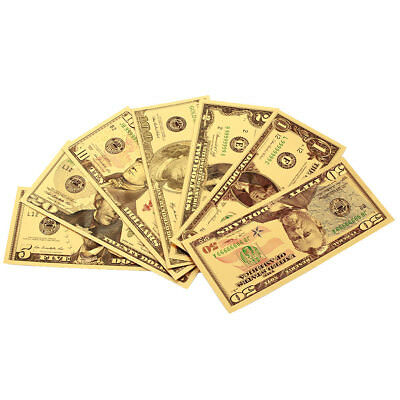 High Quality 1 2 5 10 20 50 100 Dollar Banknotes Antique Plated Gold Decoration
