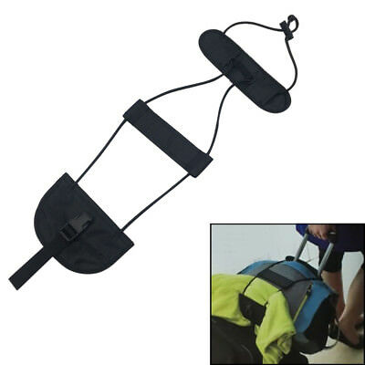 Travel Bag Strap Luggage Suitcase Adjustable Belt Carry On Bungee Strap Black