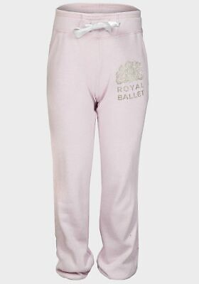 Girls Pink Silver Tracksuit Bottoms Jogging Bottoms joggers 2-8 ballet dance