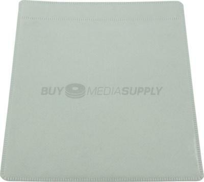 Non woven White Plastic Sleeve CD/DVD Double-sided - 2500 Pack