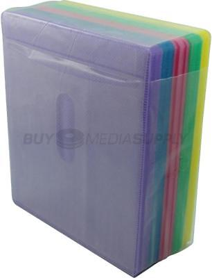 Non woven Multi Color Plastic Sleeve CD/DVD Double-sided - 2500 Pack