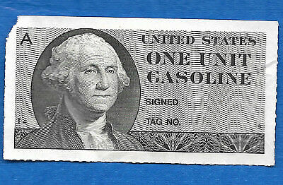 United States Gasoline Ration Coupon 1974 One Unit Series A Plate# I4-9