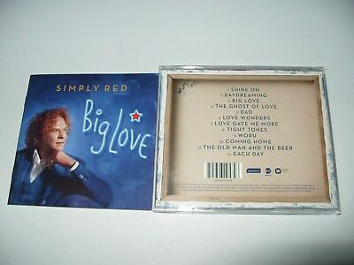 Simply Red Big Love 12 Tracks 2015 cd + Inlays Are Nr Mint