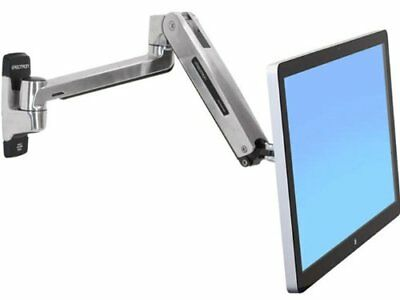 """20"""" Lx 240 V Sit-Stand Indoor LCD Arm & Wall Mount Adjustment Polished Aluminum"""