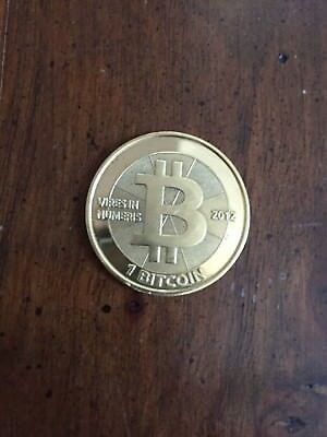 1 Casascius 2012, physical Bitcoin , brass coin, fully loaded with all Forks