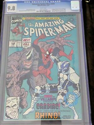Amazing Spider-Man # 344 CGC 9.8 1991 First Cletus Kassidy (Carnage) key issue