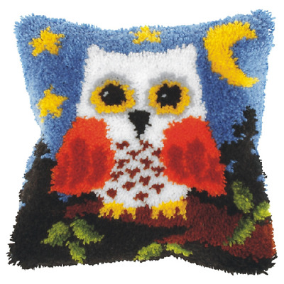 Orchidea Latch Hook Cushion Kit - Large - Owl - Needlecraft Kits